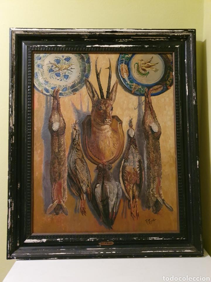 GRAN BODEGON DE NATURALEZA MUERTA FIRMADO FAUSTO ANTONIO MOYA (Arte - Pintura - Pintura al Óleo Antigua sin fecha definida)