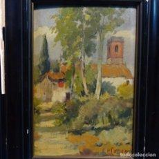 Arte: EXCELENTE OLEO SOBRE TABLA DE FRANCESC PLANAS DORIA(SABADELL 1879-1955).. Lote 178158154
