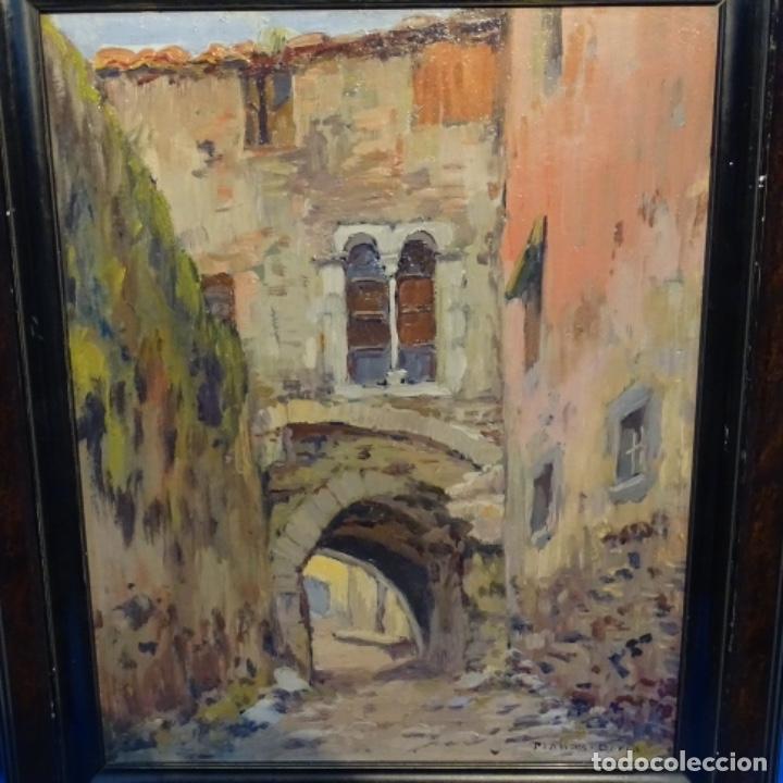 OLEO FRANCESC PLANAS DORIA(SABADELL 1879-1955).GRAN CALIDAD. (Arte - Pintura - Pintura al Óleo Contemporánea )