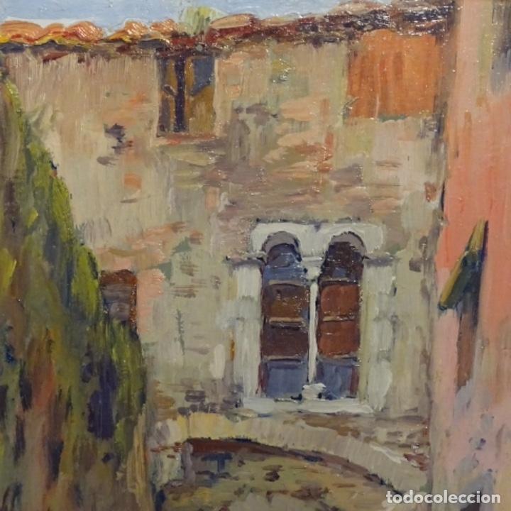 Arte: Oleo Francesc planas doria(Sabadell 1879-1955).gran calidad. - Foto 3 - 178159869