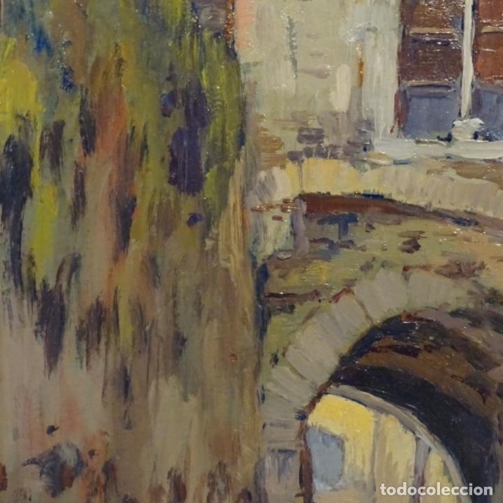 Arte: Oleo Francesc planas doria(Sabadell 1879-1955).gran calidad. - Foto 4 - 178159869