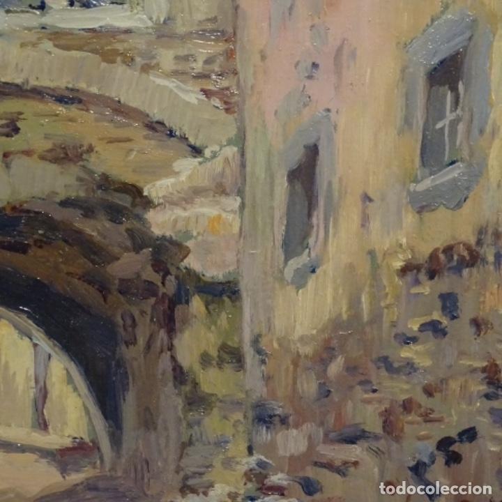 Arte: Oleo Francesc planas doria(Sabadell 1879-1955).gran calidad. - Foto 7 - 178159869