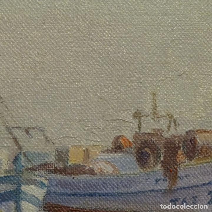 Arte: Oleo de Francesc llorach i balcells (torredembarra 1914-2006).barcas en la playa. - Foto 7 - 178160005