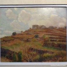 Arte: OLEO SOBRE CARTÓN DURO DE FRANCESC PLANAS DORIA(SABADELL 1879-1955).. Lote 178160375