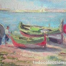 Arte: MARINA OLEO SOBRE TABLERO FIRMADO: J M ROSELLÓ. Lote 178203736