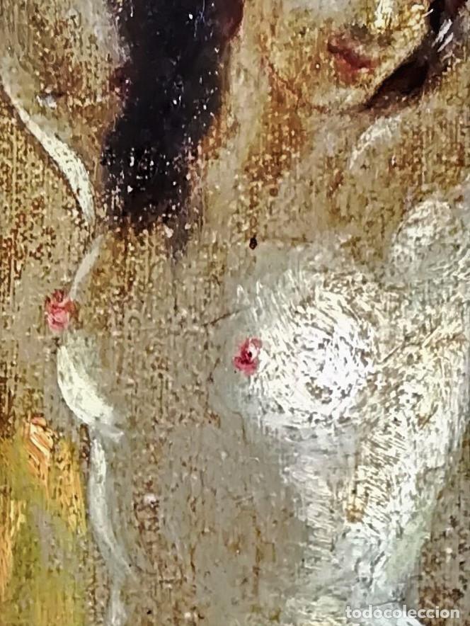 Arte: PINTURA EROTICA FRANCESA,SIGLO XIX,MUJER DESNUDA FRENTE AL ESPEJO,FIRMADA PINTOR LESIEUR,EROTISMO - Foto 2 - 178287133