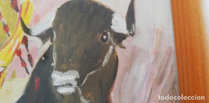 Arte: Pintura taurina óleo sobre papel, F. Soriano, tauromaquia, - Foto 4 - 178289443