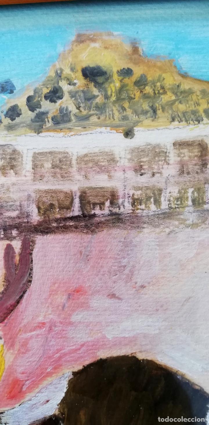 Arte: Pintura taurina óleo sobre papel, F. Soriano, tauromaquia, - Foto 6 - 178289443