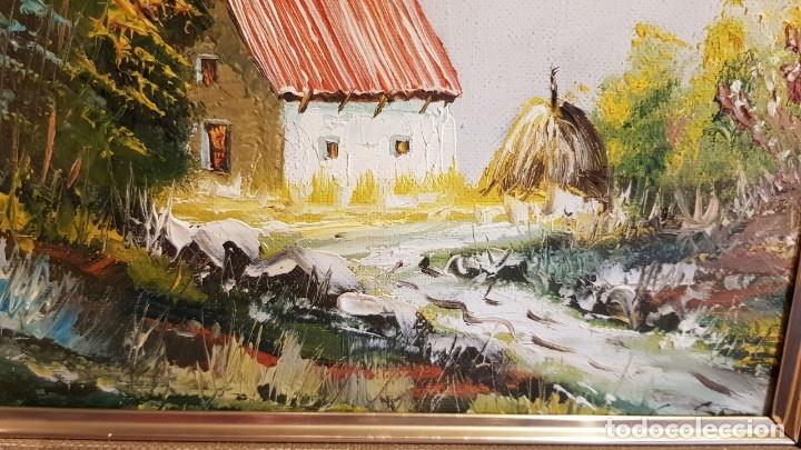 Arte: PAISAJE AL ÓLEO - SIN FIRMA - PASPARTOUT / ENMARCADO. MEDIDA TOTAL 43 X 38 CM. - Foto 4 - 178296813