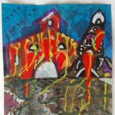 Arte: ANTONI MARTÍ (SEUDONIMO. CASSERRES, 1.960) - OLEO SOBRE CARTÓN - 36 X 28 CERTIFICADO DE AUTENTICIDAD. Lote 178307335