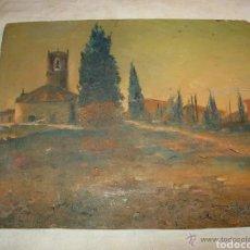 Arte: PINTURA PAISAJE, ANTIGUA SOBRE TABLA. Lote 178359782