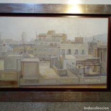 Arte: GRAN ÓLEO DE ALICIA GRAU(BARCELONA 1955).PAISAJE DE BARCELONA.BIEN ENMARCADO Y CONSERVADO.. Lote 178389056
