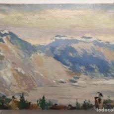 Arte: JAUME BUSQUETS I MOLLERA (GIRONA, 1904–1968). OLEO/LIENZO 41 X 33 CM. LE SALÈVE, GENEVE, 1955.. Lote 178393232