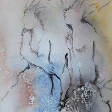 Arte: JORDI ANDREU FRESQUET. TÉCNICA MIXTA SOBRE PAPEL. FIRMADA. Lote 178566111