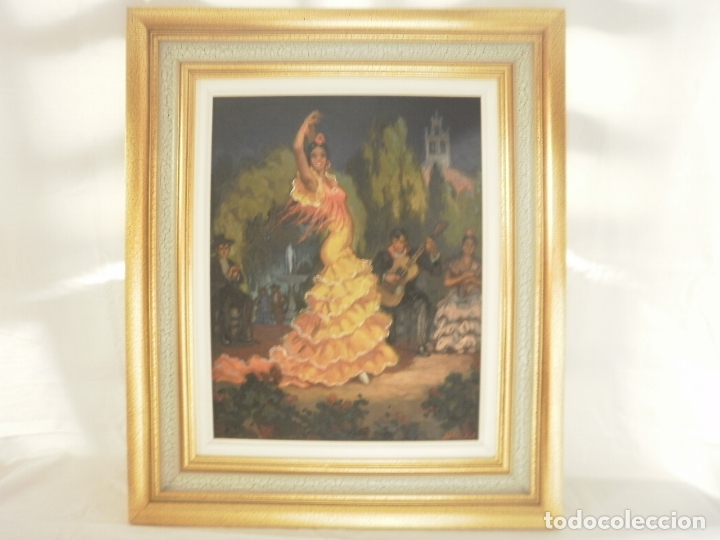PINTURA AL OLEO DE FLAMENCA. FIRMADA (Arte - Pintura - Pintura al Óleo Moderna sin fecha definida)
