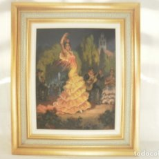 Arte: PINTURA AL OLEO DE FLAMENCA. FIRMADA. Lote 178603271