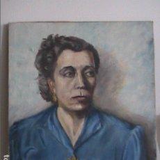 Arte: EXCELENTE ÓLEO SOBRE TELA. RETRATO DE DAMA. 1949. J.JUAN RIBÓ.. Lote 178673692