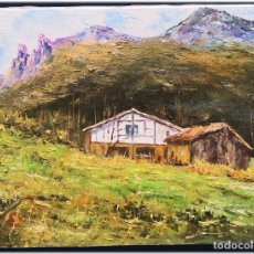 Arte: PINTURA AL OLEO SOBRE LIENZO 27X35. Lote 178689700