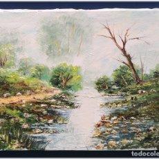 Arte: PINTURA AL OLEO SOBRE LIENZO 27X35. Lote 178689742