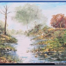 Arte: PINTURA AL OLEO SOBRE LIENZO 27X35. Lote 178689752
