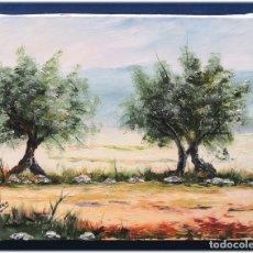 Arte: PINTURA AL OLEO SOBRE LIENZO 27X35. Lote 178690171