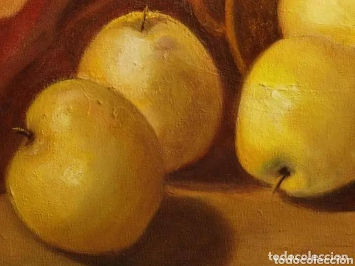 Arte: Pintura bodegon manzanas. Antigua firmada Barrera - Foto 3 - 178762151