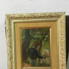 Arte: PINTURA AL ÓLEO SOBRE TABLILLA FIRMADA POR PEDRO SOLER. Lote 178764772