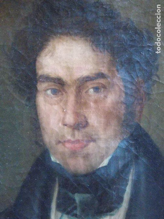 Arte: ANTIGUO RETRATO OLEO SOBRE LIENZO SIGLO XIX - Foto 8 - 178787490