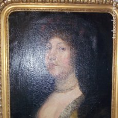 Arte: ANTIGUO OLEO SOBRE LIENZO RETRATO XVIII. Lote 178791481