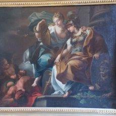 Arte: ANTIGUO OLEO SOBRE LIENZO ALEGORIA SIGLO XVIII. Lote 178801520