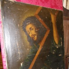 Arte: JESÚS CON LA CRUZ, ÓLEO SIGLO XVII-XVIII. Lote 178803628