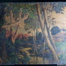 Arte: PAISAJE CON MASIA POR CARLOS GARCIA CUERVAS (1916-1988). Lote 178805467