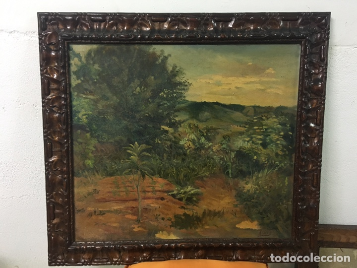 Arte: Pintura al óleo sobre lienzo firmada - Foto 2 - 178805703