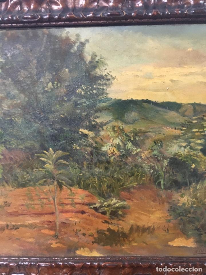 Arte: Pintura al óleo sobre lienzo firmada - Foto 5 - 178805703