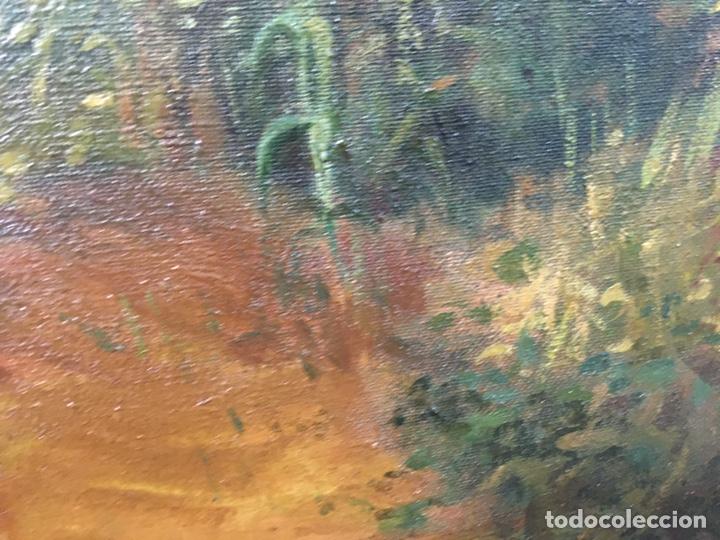 Arte: Pintura al óleo sobre lienzo firmada - Foto 11 - 178805703