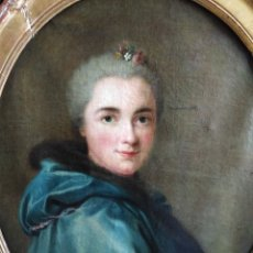 Arte: ANTIGUO OLEO SOBRE LIENZO SIGLO XVIII RETRATO ESCUEL A FRANCESA. Lote 178807386
