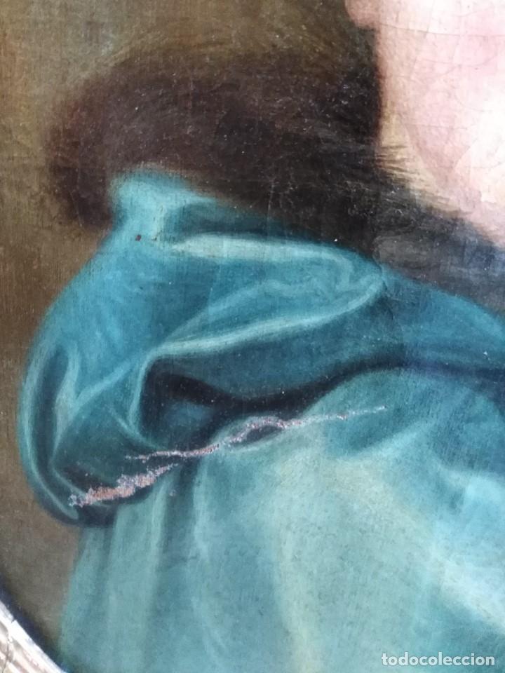 Arte: ANTIGUO OLEO SOBRE LIENZO SIGLO XVIII RETRATO ESCUEL A FRANCESA - Foto 3 - 178807386