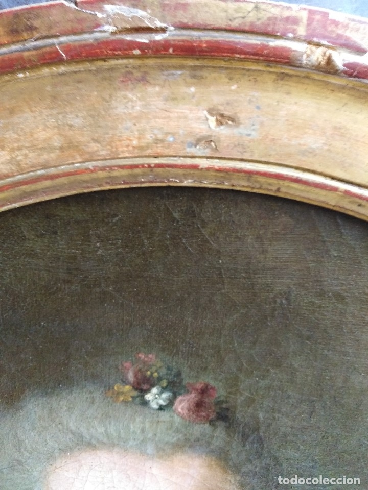 Arte: ANTIGUO OLEO SOBRE LIENZO SIGLO XVIII RETRATO ESCUEL A FRANCESA - Foto 4 - 178807386