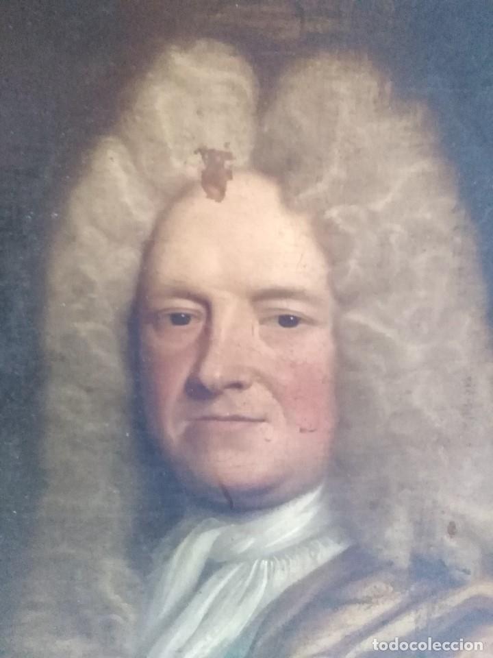 Arte: ANTIGUO OLEO SOBRE LIENZO SIGLO XVIII RETRATO ESCUEL A FRANCESA - Foto 2 - 178808452