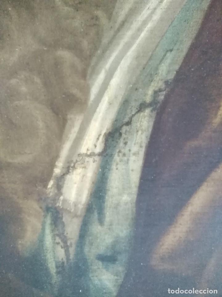 Arte: ANTIGUO OLEO SOBRE LIENZO SIGLO XVIII RETRATO ESCUEL A FRANCESA - Foto 3 - 178808452