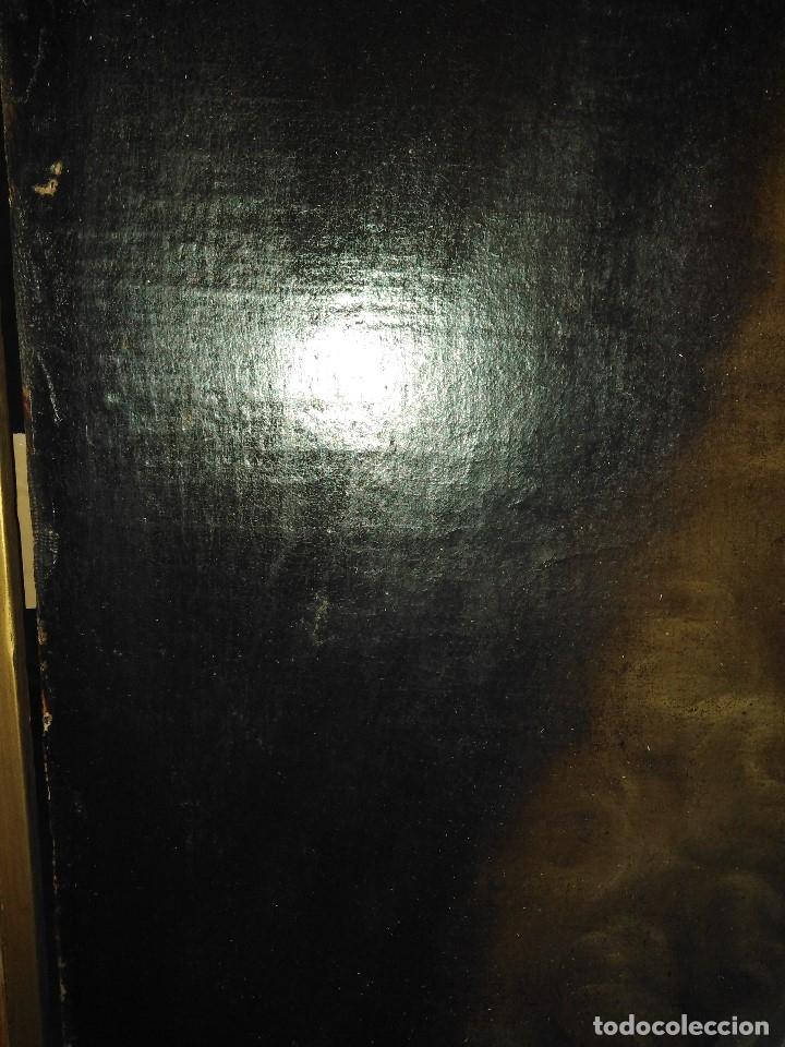 Arte: ANTIGUO OLEO SOBRE LIENZO SIGLO XVIII RETRATO ESCUEL A FRANCESA - Foto 4 - 178808452