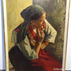 Arte: EXCELENTE ÓLEO SOBRE TABLEX ANONIMO.ESCUELA VALENCIANA.BUEN TRAZO.MAESTRO.. Lote 178827545