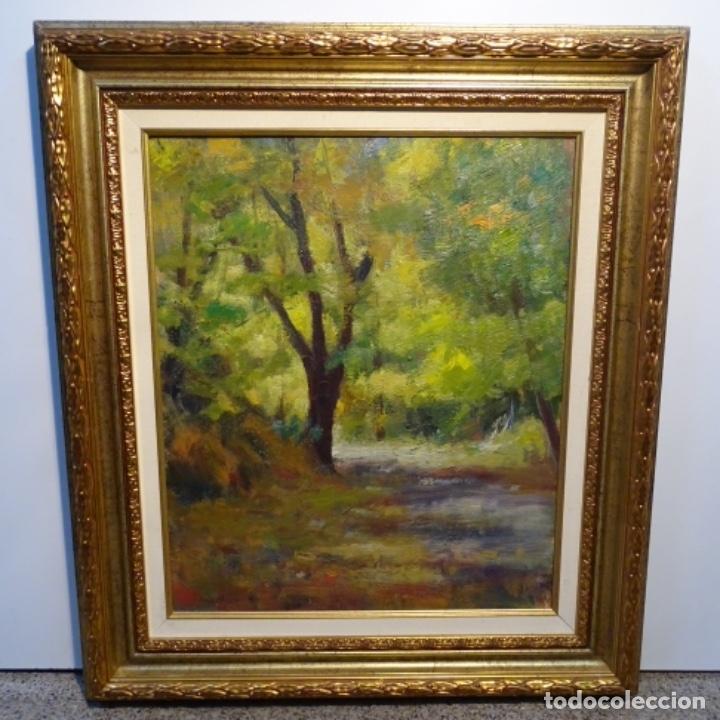 Arte: Oleo sobre tela de Antonio Pineda salmeron(motril1953).tema de otoño.bien enmarcado. - Foto 2 - 178827846