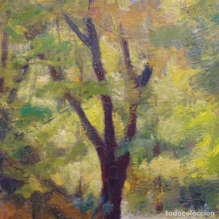 Arte: Oleo sobre tela de Antonio Pineda salmeron(motril1953).tema de otoño.bien enmarcado. - Foto 3 - 178827846
