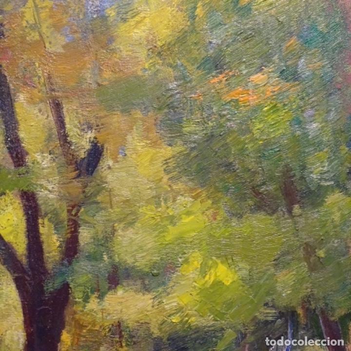 Arte: Oleo sobre tela de Antonio Pineda salmeron(motril1953).tema de otoño.bien enmarcado. - Foto 4 - 178827846