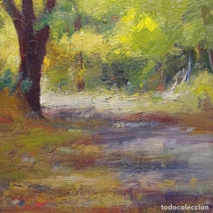 Arte: Oleo sobre tela de Antonio Pineda salmeron(motril1953).tema de otoño.bien enmarcado. - Foto 5 - 178827846