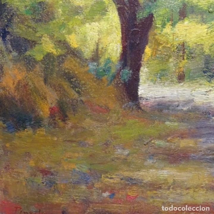 Arte: Oleo sobre tela de Antonio Pineda salmeron(motril1953).tema de otoño.bien enmarcado. - Foto 6 - 178827846