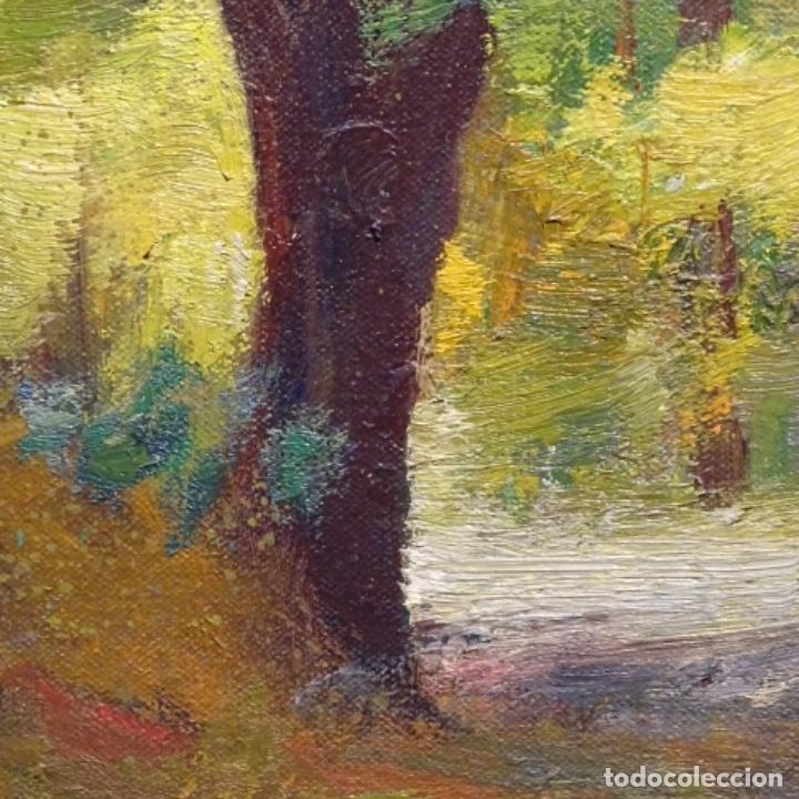 Arte: Oleo sobre tela de Antonio Pineda salmeron(motril1953).tema de otoño.bien enmarcado. - Foto 7 - 178827846