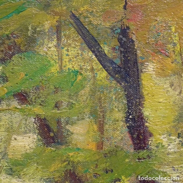 Arte: Oleo sobre tela de Antonio Pineda salmeron(motril1953).tema de otoño.bien enmarcado. - Foto 9 - 178827846