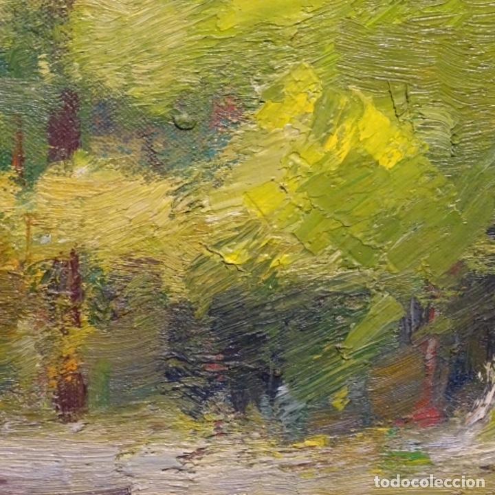 Arte: Oleo sobre tela de Antonio Pineda salmeron(motril1953).tema de otoño.bien enmarcado. - Foto 10 - 178827846